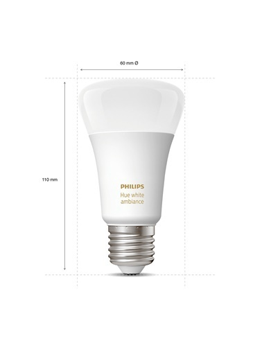 Philips Hue Beyaz Ambiyans E27 Duylu Bluetooth Özellikli Akıllı Spot Ampul Beyaz